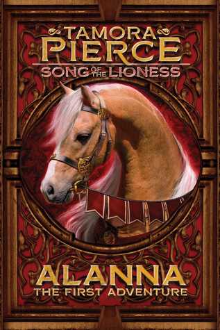 Book cover: horse's head on a red background