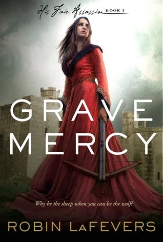 Book cover: woman with red dress and crossbow